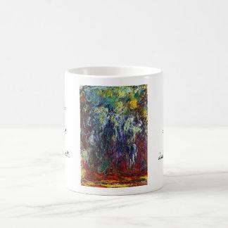 Sauce que llora, pintura de Giverny Claude Monet Taza De Café