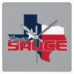 Sauce Square Wall Clock