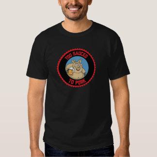 Sauced también a la camisa del Bbq del cerdo