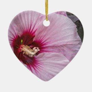 Saucer Hibiscus Ceramic Ornament