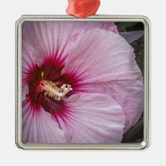 Saucer Hibiscus Metal Ornament