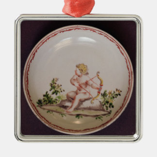 Saucer, painted by Nathaniel Friedrich Hewelke Christmas Tree Ornament
