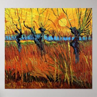 Sauces de Van Gogh en el poster de la puesta del s