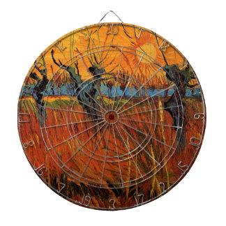 Sauces de Van Gogh en la puesta del sol,