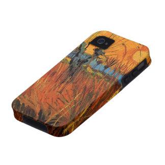 Sauces de Van Gogh en la puesta del sol, Case-Mate iPhone 4 Funda