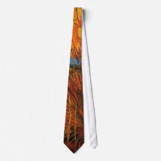 Sauces en la puesta del sol de Van Gogh Corbatas Personalizadas