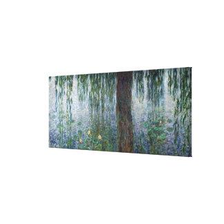 Sauces que lloran de Claude Monet el | Waterlilies Impresiones En Lona Estiradas
