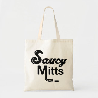 Saucy Mitts Hockey Stick Tote Bag