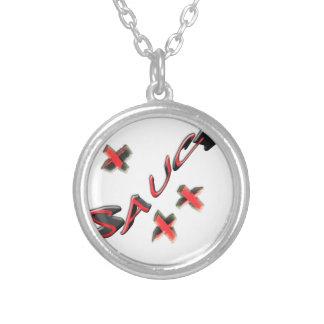 saucy round pendant necklace