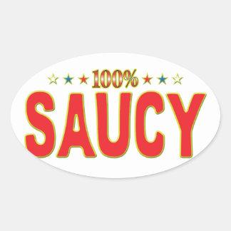 Saucy Star Tag Oval Sticker