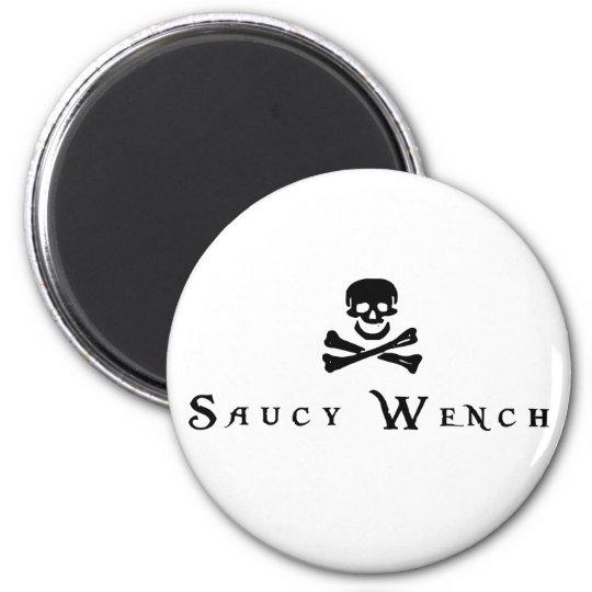 Saucy Wench 2 Inch Round Magnet