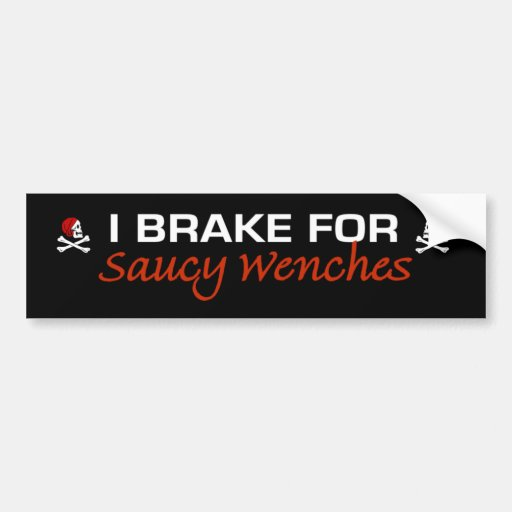 SAUCY WENCHES CAR BUMPER STICKER
