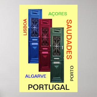 """Saudades"" Portugal poster"