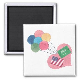 saudi-american square magnet
