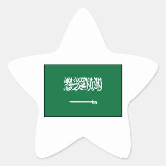 Saudi Arabia Arab Flag Star Sticker