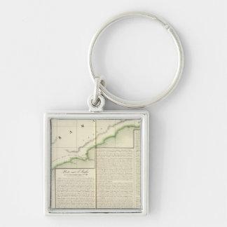 Saudi Arabia, Asia 101 Silver-Colored Square Keychain