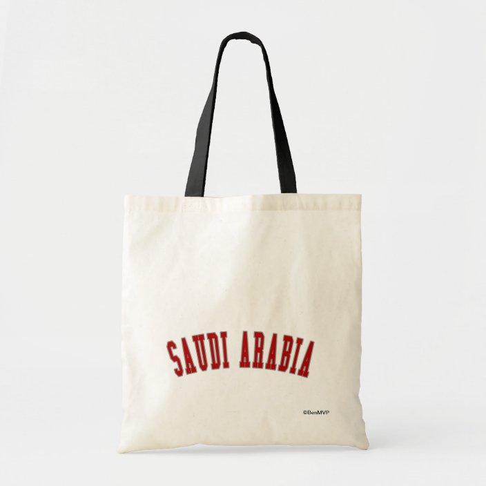 Saudi Arabia Canvas Bag