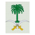 Saudi Arabia Coat of Arms detail Postcards