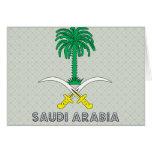 Saudi Arabia Coat of Arms Greeting Cards
