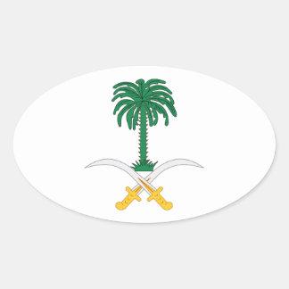 Saudi Arabia Coat of Arms Oval Sticker