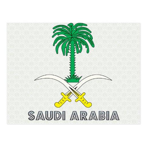 Saudi Arabia Coat of Arms Post Cards