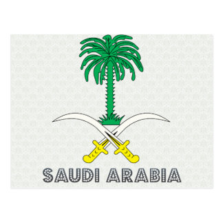 Saudi Arabia Coat of Arms Postcard