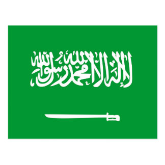 saudi arabia country flag nation symbol postcard
