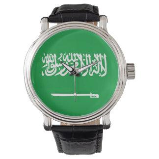 saudi arabia country flag nation symbol wristwatch