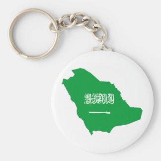 saudi arabia country flag shape map symbol keychain