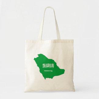 saudi arabia country flag shape map symbol tote bag