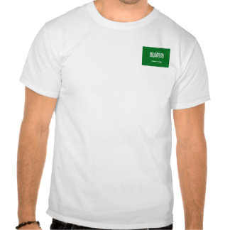 Saudi Arabia Flag and Map T-Shirt