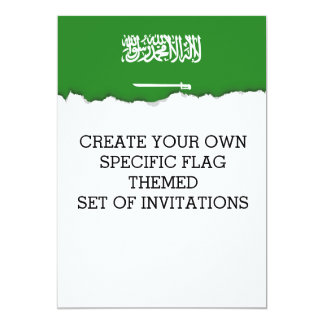 Saudi Arabia Flag Card
