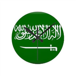 Saudi Arabia Flag Round Wall Clocks