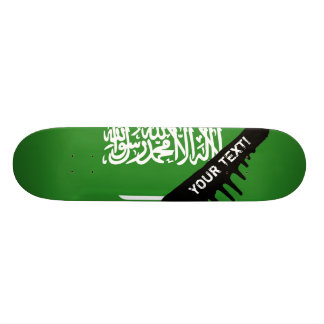 Saudi Arabia Flag Skateboard