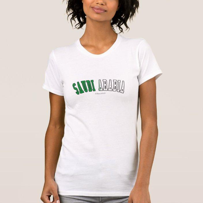 Saudi Arabia in National Flag Colors T-shirt