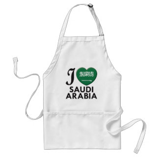 Saudi Arabia Love Adult Apron