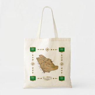 Saudi Arabia Map + Flags Bag
