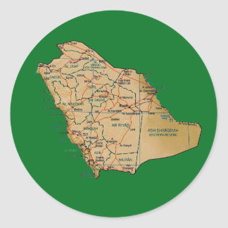 Saudi Arabia Map Sticker