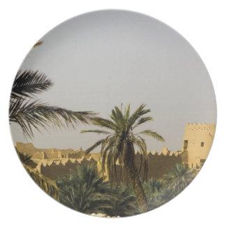 Saudi Arabia, Riyad, Al-Diriya old town of Saud Melamine Plate