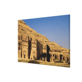 Saudi Arabia, site of Madain Saleh, ancient 2 Canvas Print