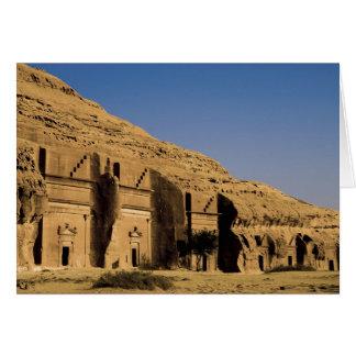 Saudi Arabia, site of Madain Saleh, ancient 2 Card