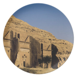 Saudi Arabia, site of Madain Saleh, ancient 2 Melamine Plate