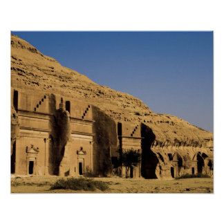 Saudi Arabia, site of Madain Saleh, ancient 2 Poster