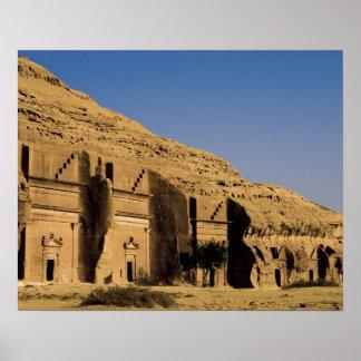 Saudi Arabia, site of Madain Saleh, ancient 2 Poster
