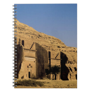 Saudi Arabia, site of Madain Saleh, ancient 2 Spiral Notebook