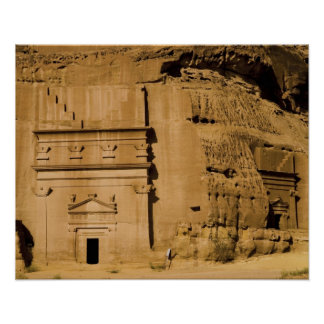 Saudi Arabia, site of Madain Saleh, ancient 3 Poster