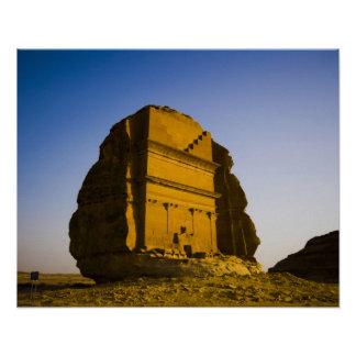 Saudi Arabia, site of Madain Saleh, ancient 4 Poster
