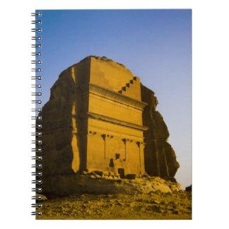 Saudi Arabia, site of Madain Saleh, ancient 4 Spiral Notebook