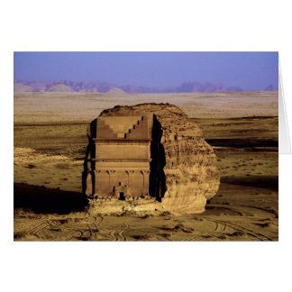 Saudi Arabia, site of Madain Saleh, ancient Card