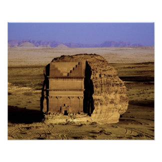 Saudi Arabia, site of Madain Saleh, ancient Poster